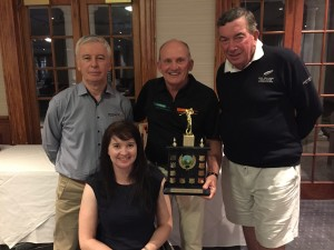 Guest speaker, Angie Ballard, with Wayne Costin, managing director of Costin Roe Consulting (centre), and David Piper OAM , CEO of Wheelchair Sports NSW (right)