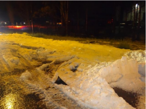 Great Western Highway closed by excessive hail